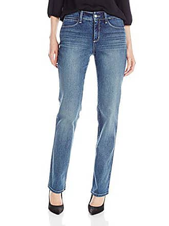 NYDJ Womens Marilyn Straight Leg Denim Jeans, Heyburn, 0