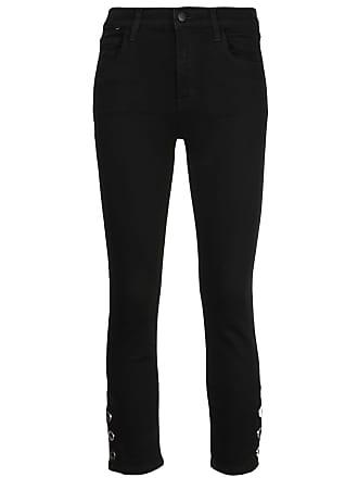 J Brand high-rise cropped jeans - Preto