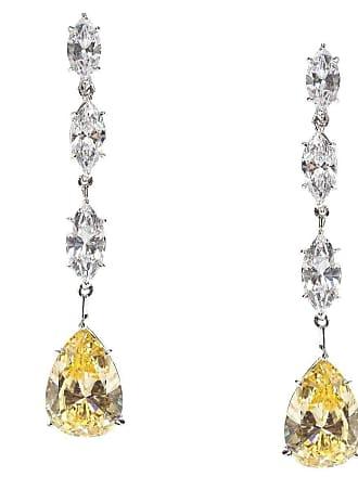 Fantasia Sterling Silver Multi Marquise & Pear Shape Drop Earrings