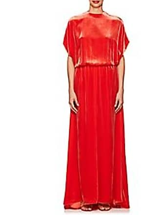 Valentino Womens Cutout Back Velvet Gown Orange Size 6