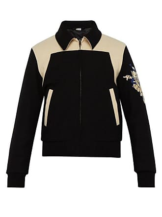 fe9be0653fc Gucci Roaring Tiger Wool Bomber Jacket - Mens - Black White