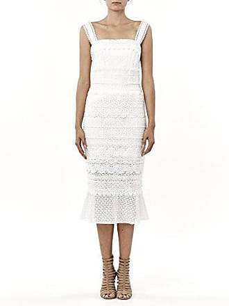 Nicole Miller Womens Lace Combos Trumpet Dress, Ivory, 10