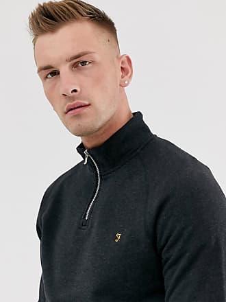 Farah Jim - Schwarzer Pullover mit halblangem Reißverschluss