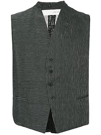 Isabel Benenato striped waistcoat - Black