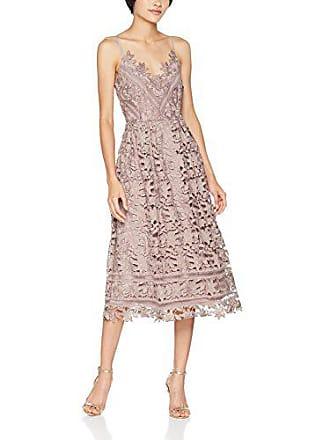 129140158a65 Little Mistress Oyster Crochet Lace Cami Midi Dress Vestito Elegante Donna