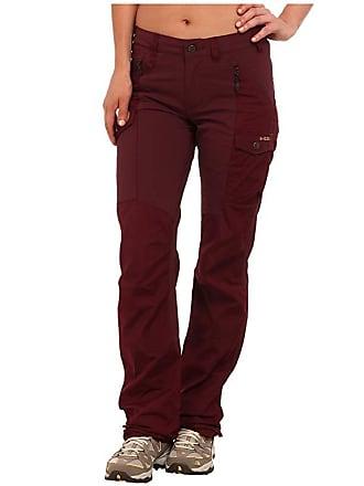 Fjällräven Nikka Trousers (Dark Garnet) Womens Casual Pants