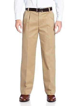 Dockers Mens Signature Khaki D2 Straight Pleat Pant, Dark Khaki - discontinued, 40W x 32L