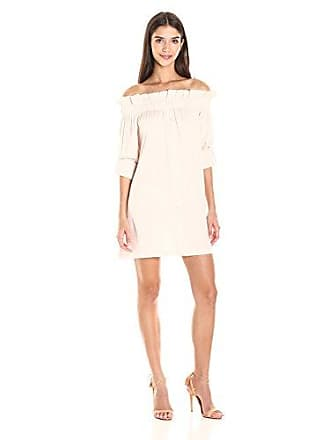 835a096e74d58 Minkpink Womens Business Class Off Shoulder Poplin Dress, Beige X-Small