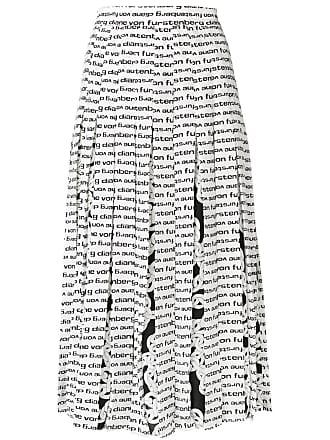 Diane Von Fürstenberg Saia plissada de seda com estampa - Branco