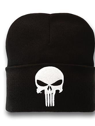 MARVEL Unisexs Punisher-Kids Beanie, Black, One Size