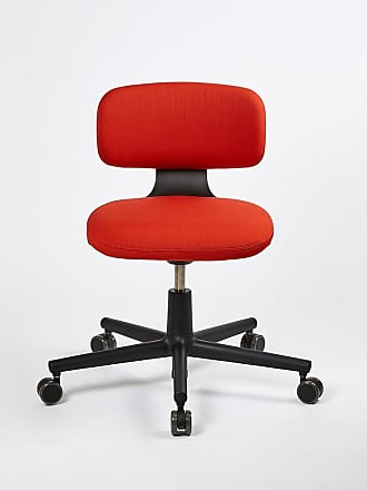 Vitra Rookie Office Chair Deep Black & Brick Volo Upholstery