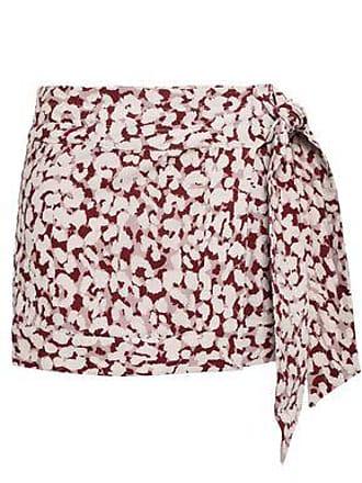 Love Stories Love Stories Woman Lottie Leopard-print Cotton-voile Mini Wrap Skirt Antique Rose Size XS