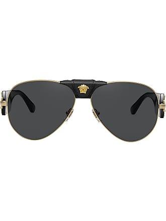 Versace Óculos de sol aviador Medusa Head - Preto