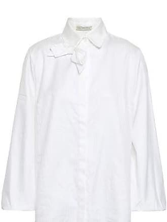 Emilia Wickstead Emilia Wickstead Woman Faron Bow-embellished Cotton-jacquard Shirt White Size 14