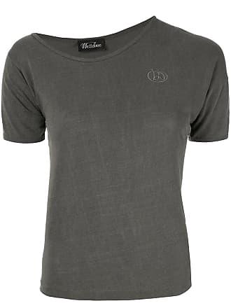 We11done Camiseta assimétrica - Cinza