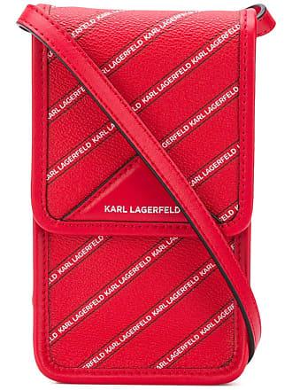 Karl Lagerfeld Bolsa mini com logo - Vermelho
