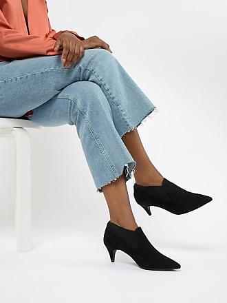 Qupid Qupid Kitten Heel Ankle Boots - Black