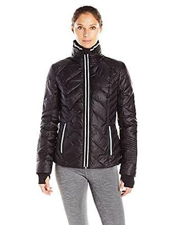 589e412d0e01 Blanc Noir Womens Puffer Jacket with Reflective Trim, Black, XS