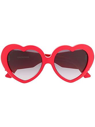 598143477 Balenciaga Óculos de sol Susi com formato de coração - Vermelho