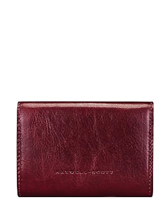7574a0aa6cdbca Maxwell Scott Maxwell-Scott kleine italienische Leder Geldbörse in Weinrot  - Fontanelle - Brieftasche,