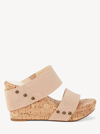 Sole Society Womens Emilia Platform Wedges Sandals Blush Champagne Size 11 Fabric From Sole Society