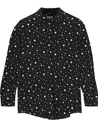 Zoe Karssen Zoe Karssen Woman Printed Washed-silk Pajama Top Black Size S