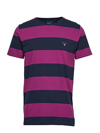 e823d2d28 GANT The Original Barstripe Ss T-Shirt T-shirts Short-sleeved Lila GANT
