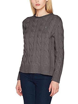 Polo Ralph Lauren Boxy RLLNCK-Long Sleeve-Sweater, Pull Femme, Grau ( d21a4de9df63