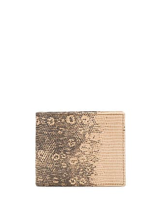 Etro embossed lizard effect wallet - Brown