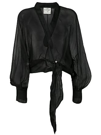 Forte_Forte tie-front jacket - Black