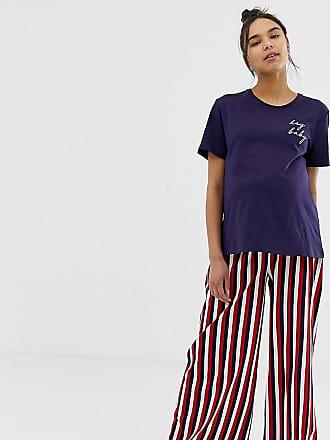 4aec3df0b447c Asos Maternity ASOS DESIGN Maternity hey baby pyjama stripe pants set -  Multi