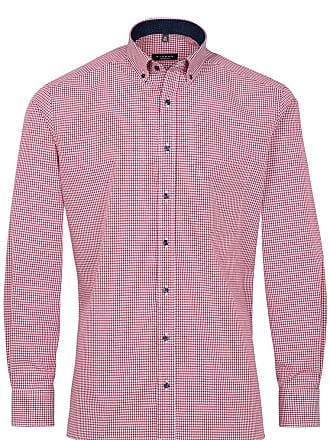 e32b59a7426c1 Eterna chemise á manches longues modern fit popeline rouge à carreaux
