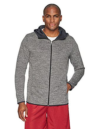 Amazon Essentials Mens Performance Full-Zip Hoodie, Black Heather, XX-Large