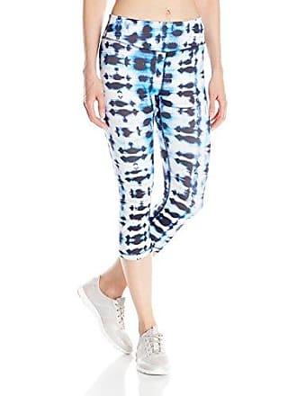 Karen Kane Womens Active Crop Pant Blurred Lines Print, Medium