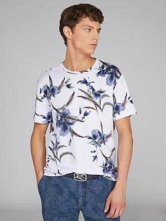 Etro T-shirt Mit Floralen Motiven, Herren, Weiß, Größe XS