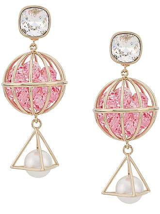 22847817f3119 Swarovski Nostalgia triple drop earrings by Mary Katrantzou - Rosa
