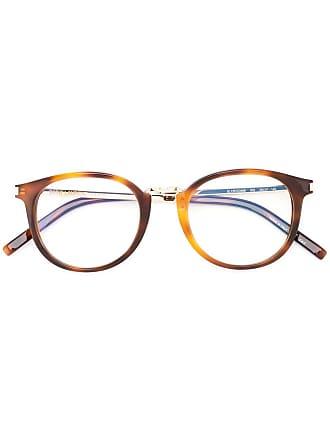 Saint Laurent Eyewear Óculos tartaruga redondo - Marrom