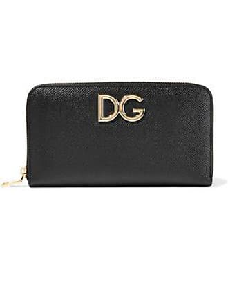 7f29b3815a1 Dolce & Gabbana Dolce & Gabbana Woman Embellished Textured-leather  Continental Wallet Black Size