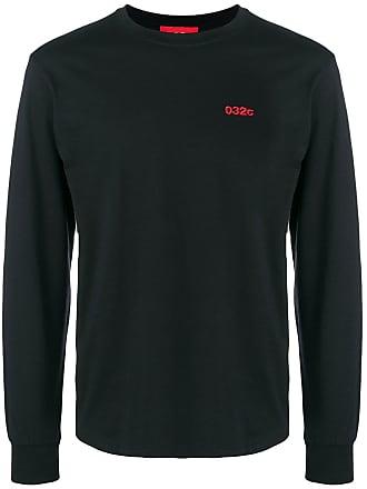 032c embroidered logo sweatshirt - Black
