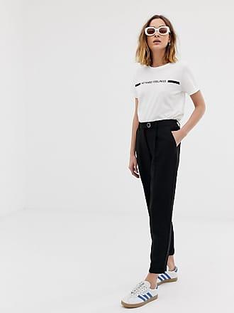 Vero Moda high waist pants in black - Black