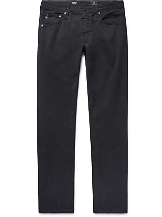 AG - Adriano Goldschmied Tellis Slim-fit Stretch-cotton Twill Trousers - Midnight blue