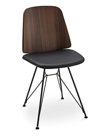 ZANOTTA Design June 2056 Dining Chair Walnut & Pelle Nappa Leather