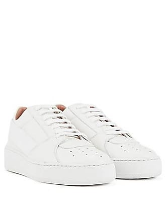 a039565cff4 BOSS Low-top leather trainers with elastic strap and platform sole