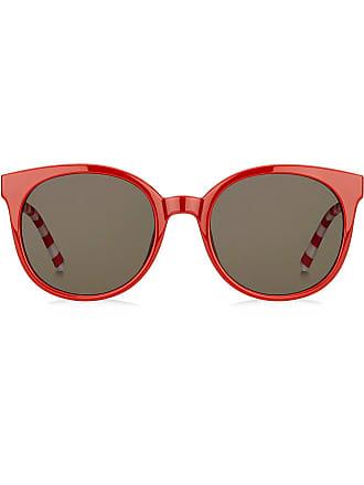 d2dc668e2af Tommy Hilfiger oversized round frame sunglasses - Red