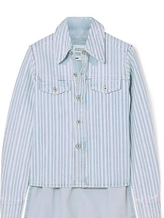 Off-white Striped Denim Shirt - Blue