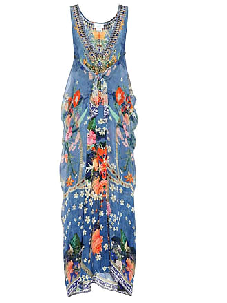 Camilla Printed silk maxi dress