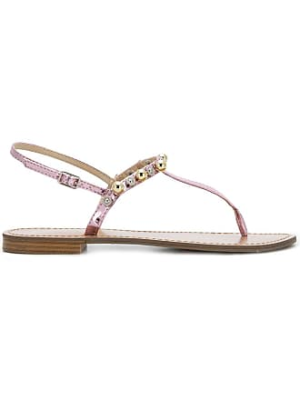 3d251025317ce8 Versace Jeans Couture beaded thong sandals - Pink