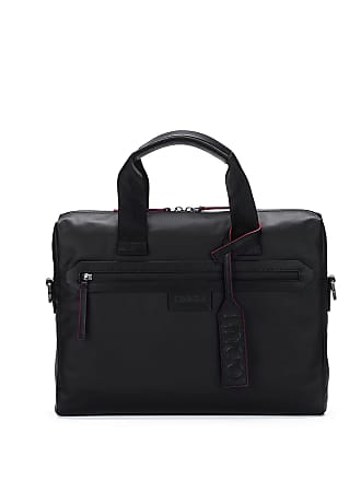 6969bc17b0 HUGO BOSS One-way document case in coated nylon with signature trims