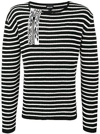 Just Cavalli striped ribbed sweater - Preto