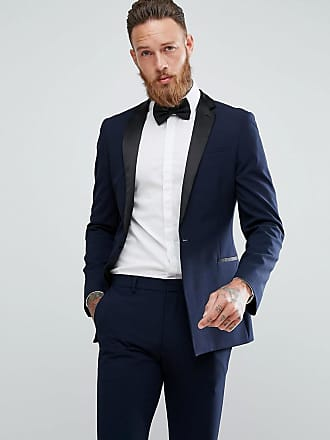 Asos Giacca da abito stile smoking super skinny blu navy - Navy 9cfa0975705